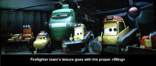 planes Fire and rescue implication 10 601x255 custom The analysis of the cartoon «Planes: fire and rescue»