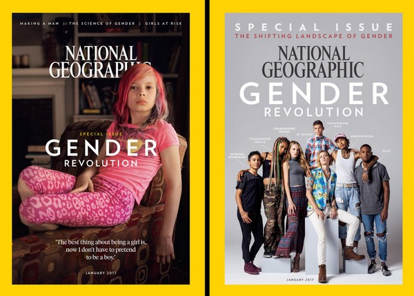 national geographic 1 January issue of a magazine National Geographic propagandizes gender revolution