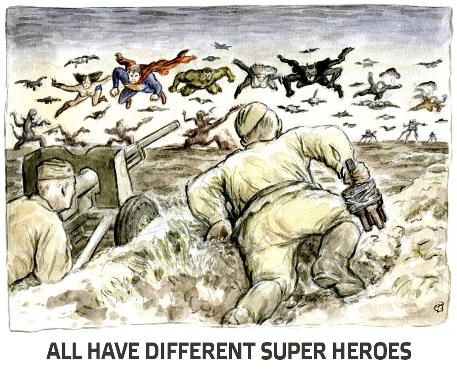 1 What is the purpose of the superhero cult being imposed on peoples minds?